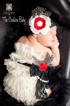 Vintage Glam Petti Romper from The Couture Baby