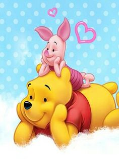 Pooh bear and piglet just hanging out 🙂