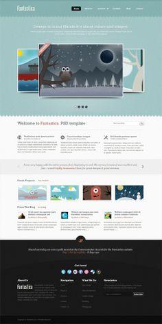 #webdesign #inspiration #texture - psd template homepage
