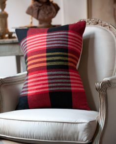 Why not have a few plaid throw pillows so you can change out your home decor during the winter holidays?