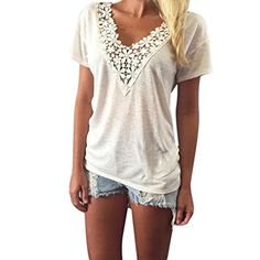 News Kwok Women's Summer Vest Top Short Sleeve Blouse Casual Tank Tops T-Shirt Lace (XXXL)   buy now     $6.32 Neckline:O-Neck Sleeve Length: Short Decoration: Appliques Sleeve Style: Regular Pattern Type: Solid Style: Casual Material:Pol... http://showbizlikes.com/kwok-womens-summer-vest-top-short-sleeve-blouse-casual-tank-tops-t-shirt-lace-xxxl/