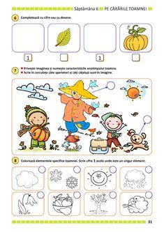 Preschool Math, Preschool Worksheets, Kindergarten, Educational Activities, Activities For Kids, Crafts For Kids, Paper Trail, Autumn Theme, Kids Education