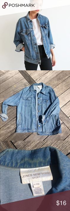 Denim Jacket This is a great denim jacket. It's not thick denim, it almost feels like cotton or a thin denim shirt, making it great to wear in warmer weather. Size xl for an oversized look. No trades. Urban Outfitters Jackets & Coats Jean Jackets