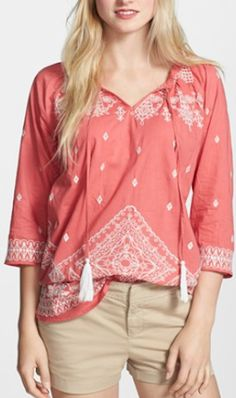 embroidered #coral peasant top http://rstyle.me/n/j2kk5r9te