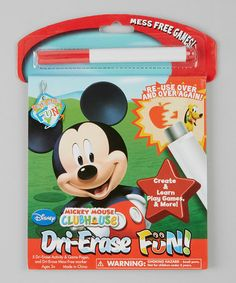 Take a look at this Mickey Mouse Clubhouse Dry-Erase Set by Disney on #zulily today!
