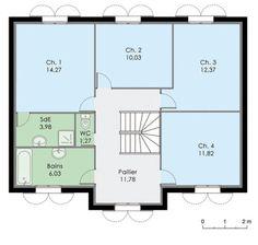 Plan Etage - maison - Maison familiale 8 Best Investments, Architect Design, House Plans, Sweet Home, Floor Plans, House Design, How To Plan, Interior Design, Architecture