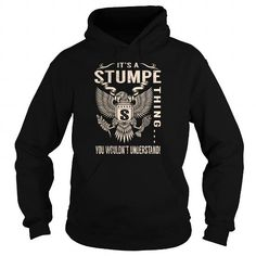 Cool Its a STUMPE Thing You Wouldnt Understand - Last Name, Surname T-Shirt (Eagle) T shirts