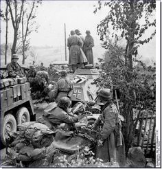 kradschuetzen-truppen-ss-totenkopf, with Krupp Kfz.69 towing 37mm PAK, sd.kfz.223 light armoured radio car and motorcycle & sidecar combination -  SS55566B Krd Side-car BMW R-12, 3° SS Totenkopf, SS-A.A.3, Russia,1941 sep.Leningrad