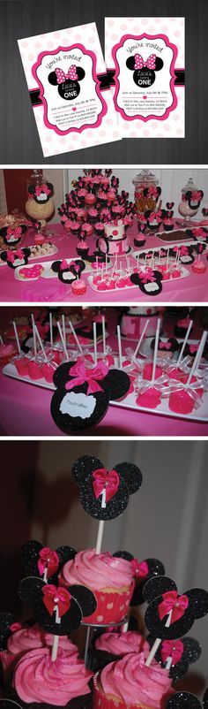 Custom Minnie Mouse Invitations $8  for 10 invitations