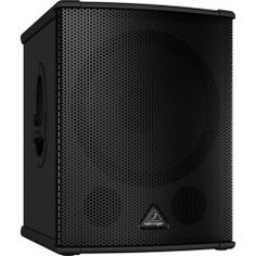 Behringer Eurolive powered subwoofer designed with a Turbospund woofer and Class-D power amp. 15 Subwoofer, Powered Subwoofer, January 2016, December, High