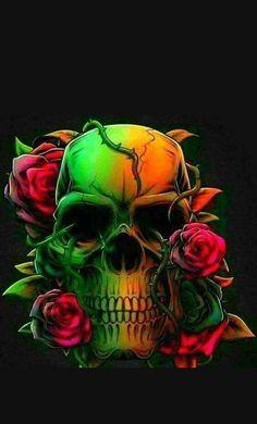 Skull and Bones Badass Skulls, Skull Pillow, Skull Artwork, Skull Wallpaper, Sugar Skull Art, Sugar Skulls, Skulls And Roses, Skull Tattoos, Gothic Art