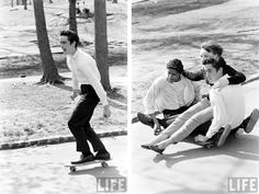 Skating in the 60s.