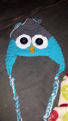 Girl Owl Hat by KassiesCrochet on Etsy, $12.00