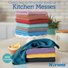 The new Norwex Australia spring colours are here! clean up your kitchen mess with ease with the norwex kitchen towels and kitchen cloths. Now available in four new colours