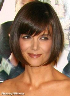 Katie Holmes' perfect bob with bangs