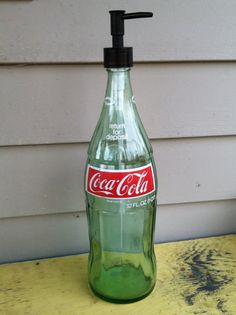 #HOWTO #DIY  #Reciclar #botella de #vidrio de #Coca-cola en #dispensador de #jabón  #ecología #reducir #reutilizar