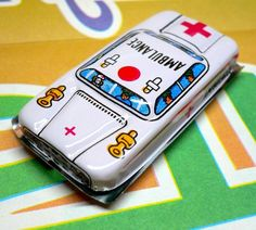 Vintage 60s AMBULANCE TIN LITHO Japan by cOveTableCuriOsitiEs