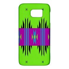Tribal+shapes+on+a+green+background+Samsung+Galaxy+S6+Hardshell+Case+Samsung+Galaxy+S6+Hardshell+Case+