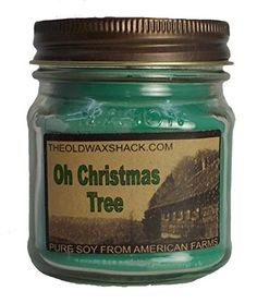 Oh Christmas Tree Scent Soy Candle - 8 Oz. Mason Jar - Holiday Scent * Continue @