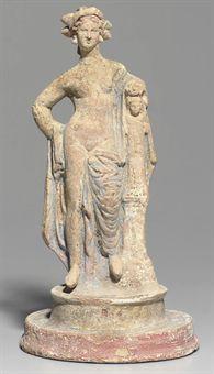 A GREEK TERRACOTTA GODDESS  CANOSAN, HELLENISTIC PERIOD, CIRCA 3RD CENTURY B.C.