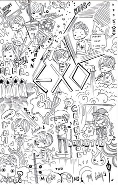 EXO Doodle By Misunderstoodpotato