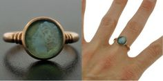 Chalcendony Cameo Ring, 1914