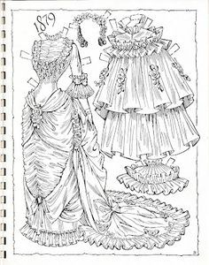 Album Archive - Victorian Brides Paper Dolls by Charles Ventura Colouring Pages, Adult Coloring Pages, Coloring Books, Victorian Paper Dolls, Vintage Paper Dolls, Victorian Bride, Art Origami, Paper Dolls Printable, Freebies