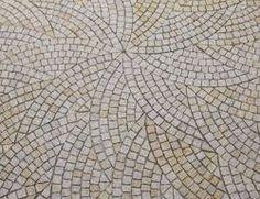 Sunset Gold Granite Fan Pattern Cobble