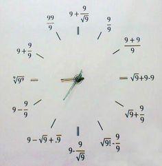 Love math, thus I love this clock. If you like math, you'll solve each formula too. ;-)