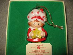 Vintage american greetings strawberry shortcake ceramic christmas vintage american greetings strawberry shortcake ceramic christmas ornament bell american greetings and vintage strawberry shortcake m4hsunfo Image collections