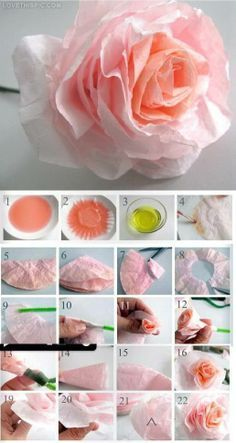 Tutorial: dyed coffee filter flowers