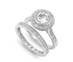 Sterling Silver Cathedral Round Cut CZ Wedding  Ring. Starting at $1 on Tophatter.com!