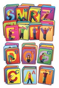 Twist and Spell Exercise Cards - These letter cards combine kinaesthetic learning with literacy to help children learn the alphabet. ID# 4019.