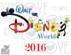 INSTANT DOWNLOAD DIY Walt Disney World Family by IdeasLove on Etsy