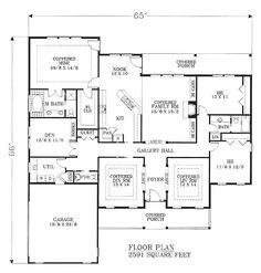 Country House Plan 91469 Level One