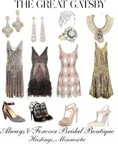20's Dresses - 20s themed bridesmaid dress ideas