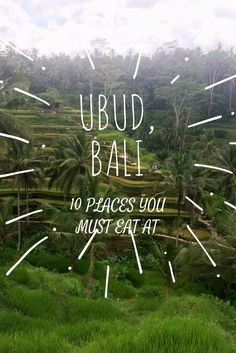 Ubud, Bali - the places you MUST eat at!