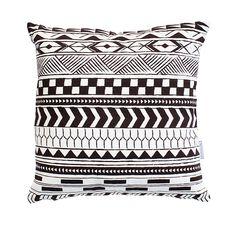 Alma Tatuada - Tribal Black Throw Pillows, Cushions, Decor Pillows, Pillows, Decorative Pillows