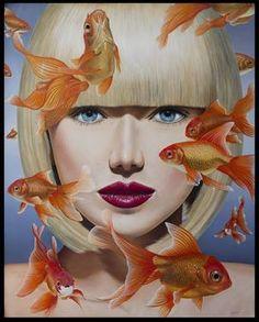 "Saatchi Art Artist Gustavo Fernandes; Painting, ""Swimming in my mind"" #art Sold"