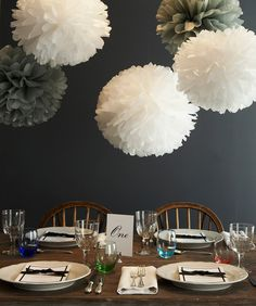hanging decor to make table more vibrant and fun
