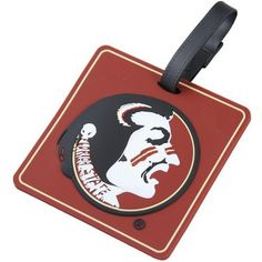 """NCAA Florida State Seminoles (FSU) Bag Tag by Football Fanatics. $9.95. Flexible PVC material. Business card/ID holder. 3 1/2"""" x 3 1/2"""". Also can be used to tag your luggage. Team logo on face. Florida State Seminoles (FSU) Bag TagAlso can be used to tag your luggageClasp closes securely on bandOfficially licensed collegiate product3 1/2"""" x 3 1/2""""Business card/ID holderFlexible PVC materialTeam logo on faceImported3 1/2"""" x 3 1/2""""Also can be used to tag your luggageFlexible PV..."""