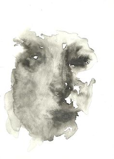 An abstract illustration by Marlene Dumas intended to be a self portrait. The composition I believe, presents the challenge to figure out the features of the face. The form looks paint-like and a type of water colours. I think if I were to do a self portrait, I would try to approach the style Dumas has achieved.