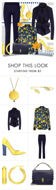 """""""Style Diary This October"""" by helenaymangual ❤ liked on Polyvore featuring Gurhan, Donna Karan, Altuzarra, Pollini, La Perla and Fendi"""