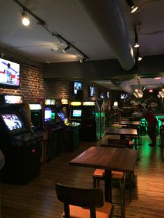 A trendy arcade bar in Raleigh with the best pub food, crafted cocktail menu, extensive beer list, and 100% original vintage arcade games and pinball.