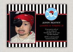 Pirate Birthday Invitation par announcingyou sur Etsy