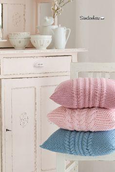 Cable Knit Pillow | www.suendenherz.de/