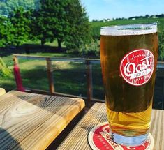 Grab a pint at Oast House Brewers' patio with breathtaking vineyard views in beautiful Niagara-on-the-Lake Large Screen Tvs, Pint Glass, Brewery, Wines, Vineyard, Patio, House, Beautiful, Terrace