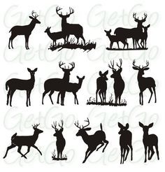 Deer silhouette Printable Graphic Artwork Clip Art by GetGoDigital Deer Silhouette Printable, Animal Silhouette, Hirsch Silhouette, Create Invitations, 12 Image, Graphic Artwork, Arts And Crafts Projects, Pyrography, Digital Image