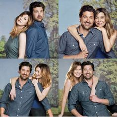 Meredith Grey, Power Couples, Cute Couples, Grey's Anatomy, Greys Anatomy Couples, Derek Shepherd, Ellen Pompeo, Pic Pose, Patrick Dempsey