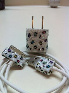 Leopard Print iPhone Charger (w/ or w/ colored spots) from glitzznglam on Etsy. Iphone Charger, Iphone Cases, Iphone Accessories, Tiger, Apple Products, Cheetah Print, My Favorite Color, Girly Things, Giraffe